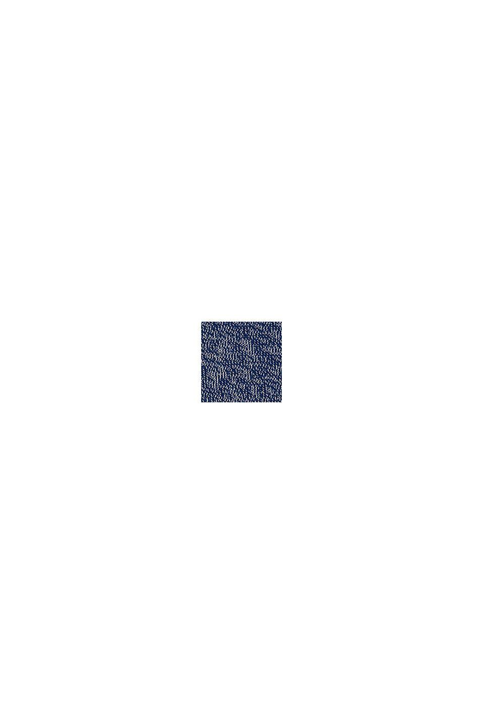 Tröja med huva och blockränder, BLUE, swatch