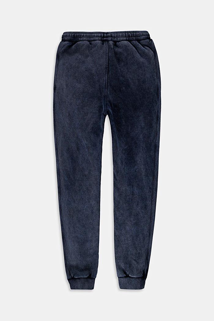 Joggingbroek met een gewassen look, 100% katoen