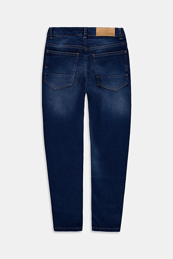 Lediga jeans med reglerbar linning