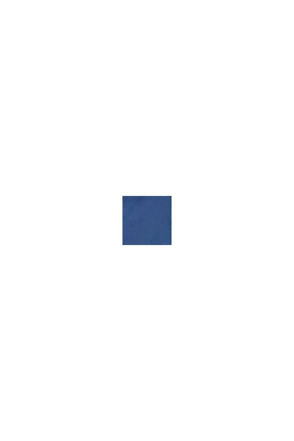 Quiltad jacka med fleecefoder och huva, BLUE, swatch