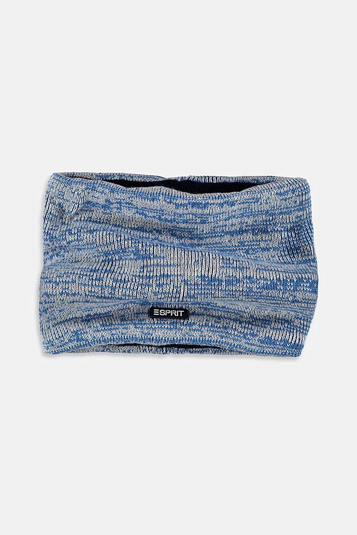 Loop-Schal mit Fleece aus Baumwoll-Mix, BLUE, detail image number 1