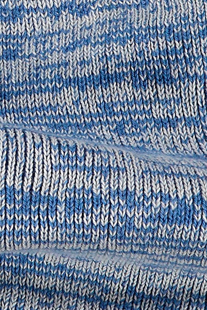 Loop-Schal mit Fleece aus Baumwoll-Mix, BLUE, detail image number 2