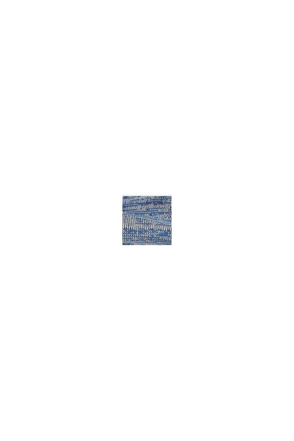 Écharpe tube agrémentée de maille polaire en coton mélangé, BLUE, swatch
