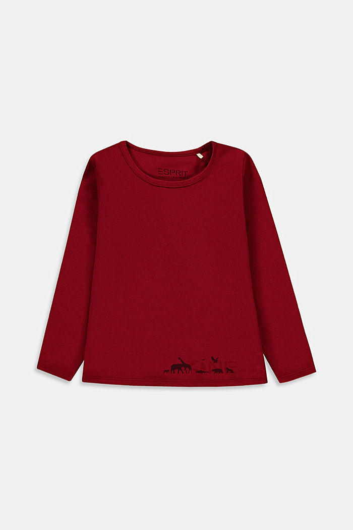 T-Shirts, DARK RED, detail image number 0
