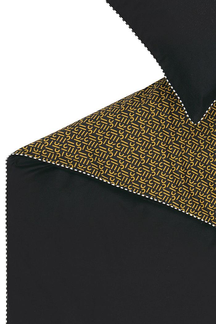 Renforcé-Bettwäsche mit Print, 100% Baumwolle, BLACK, detail image number 3