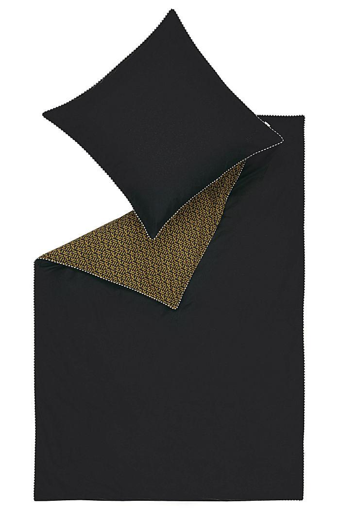 Renforcé-Bettwäsche mit Print, 100% Baumwolle, BLACK, detail image number 2