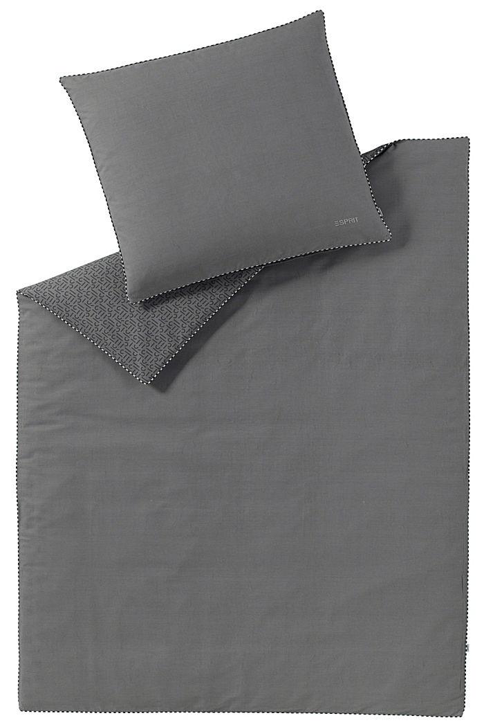 Renforcé-Bettwäsche mit Print, 100% Baumwolle, ANTHRACITE, detail image number 0