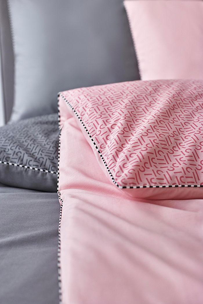 Renforcé-Bettwäsche mit Print, 100% Baumwolle, ROSE, detail image number 1