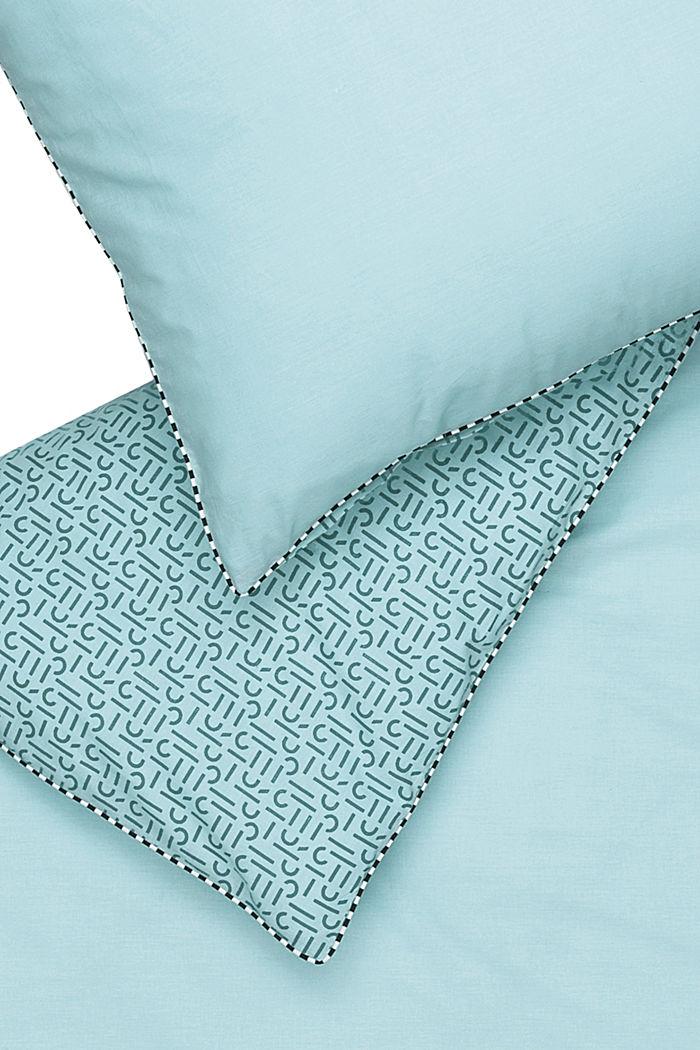 Renforcé-Bettwäsche mit Print, 100% Baumwolle, AQUA, detail image number 3