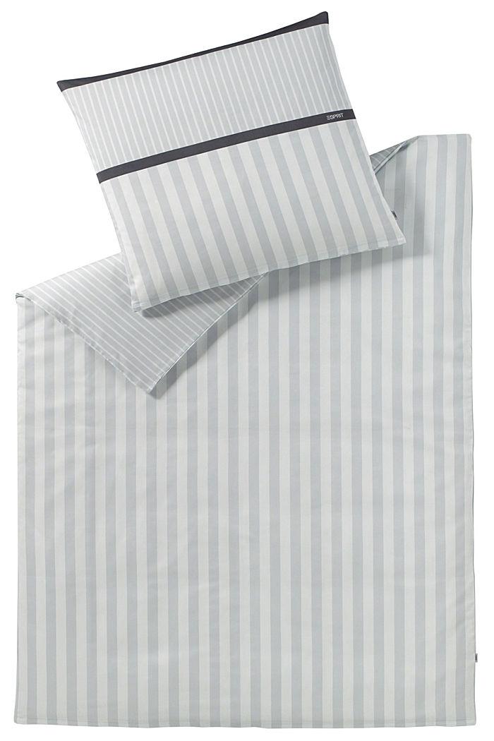 Satin-Bettwäsche aus 100% Baumwolle, LIGHTGREY, detail image number 0