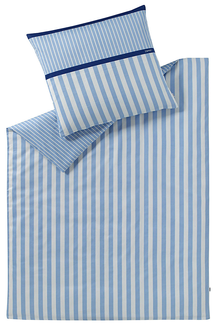 Satin-Bettwäsche aus 100% Baumwolle, BLUE, detail image number 0