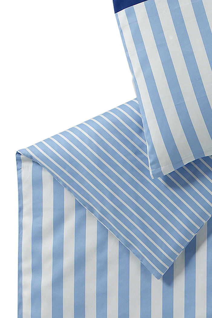 Satin-Bettwäsche aus 100% Baumwolle, BLUE, detail image number 3