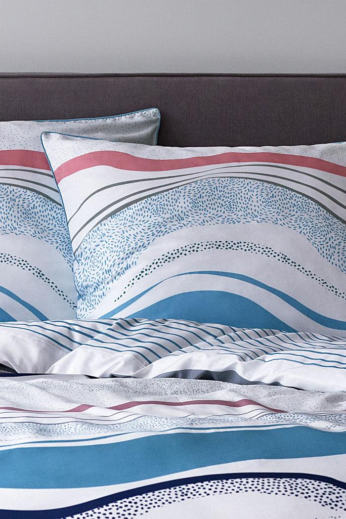 Satin-Bettwäsche aus 100% Baumwolle, AQUA, detail image number 4