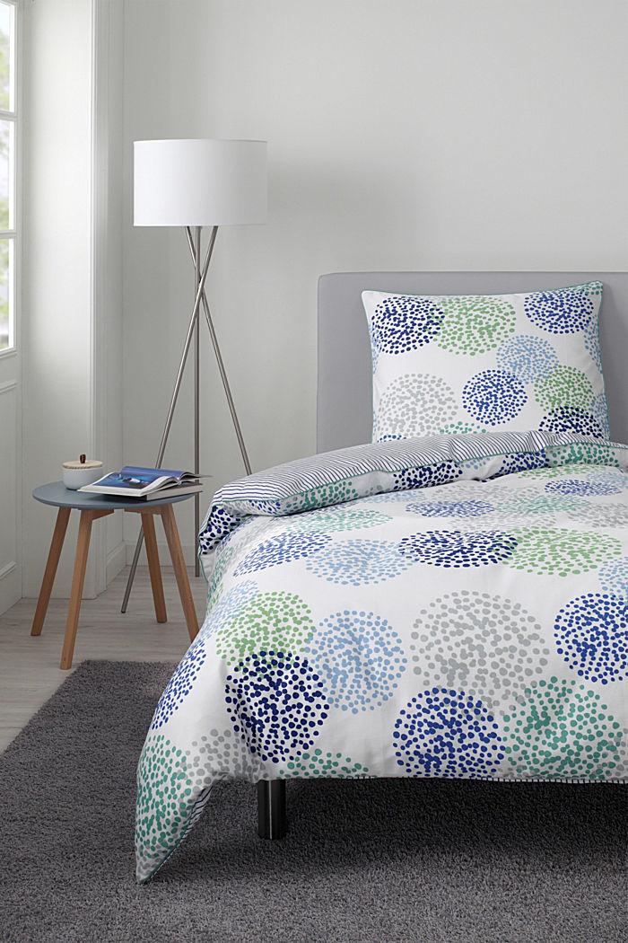Gemusterte Bettwäsche aus Baumwoll-Satin