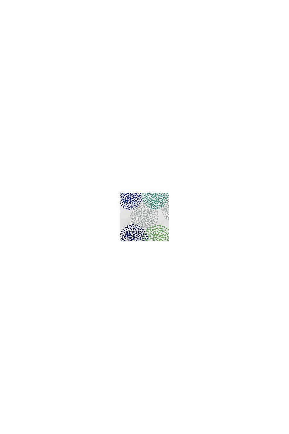 Gemusterte Bettwäsche aus Baumwoll-Satin, BLUE-GREEN, swatch