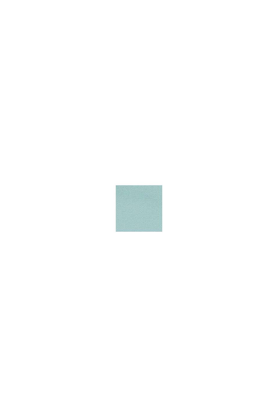Jersey-Spannbettlaken mit Baumwolle, AQUA, swatch