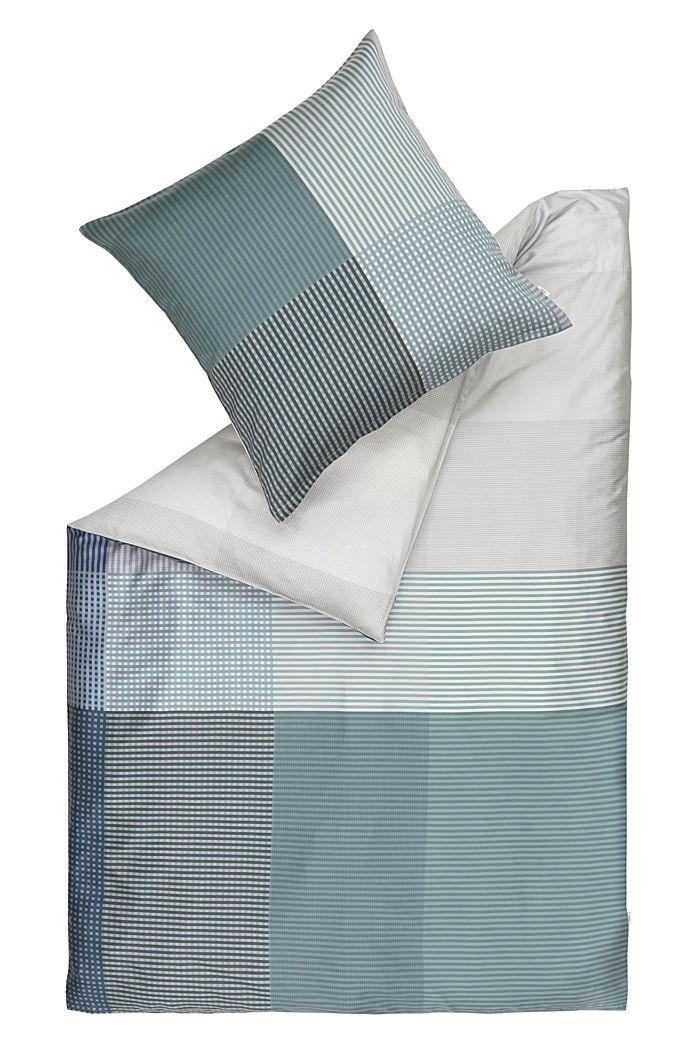 Bettwäsche aus 100% Baumwoll-Satin, GREEN/BLUE, detail image number 0