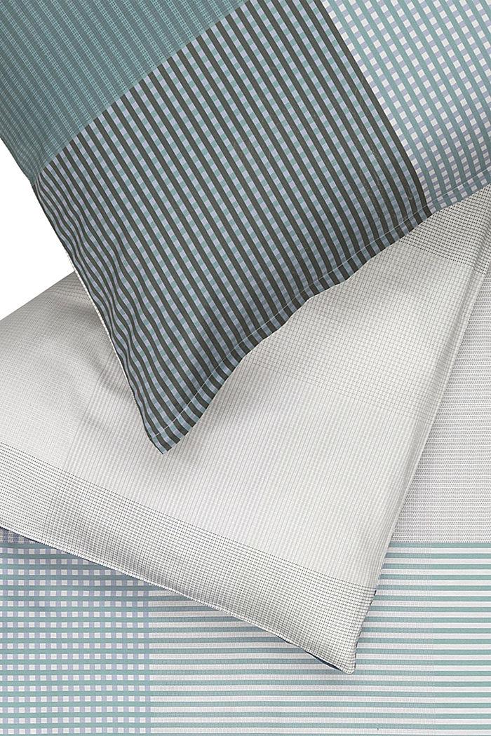Bettwäsche aus 100% Baumwoll-Satin, GREEN/BLUE, detail image number 1