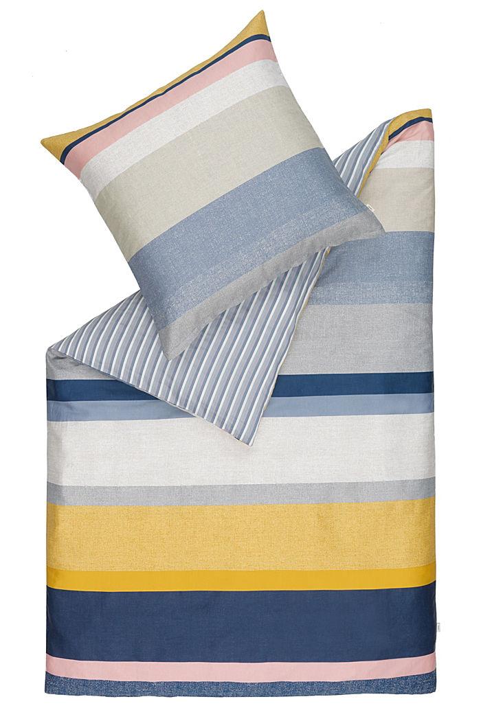 Bettwäsche aus 100% Baumwoll-Satin, BLUE/YELLOW, detail image number 0