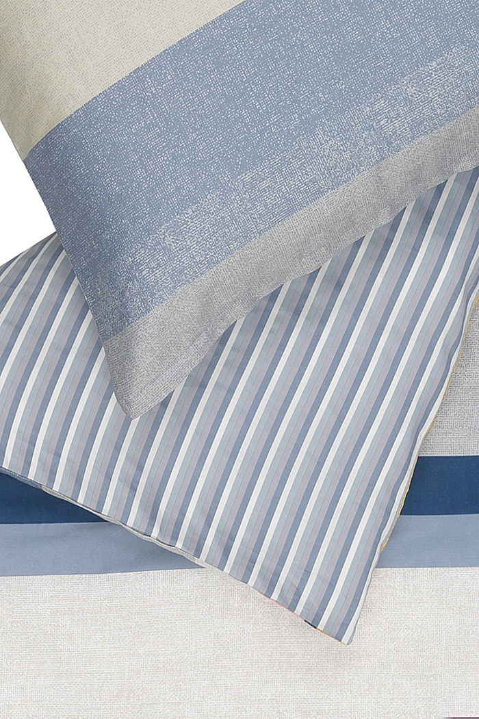 Bettwäsche aus 100% Baumwoll-Satin, BLUE/YELLOW, detail image number 1