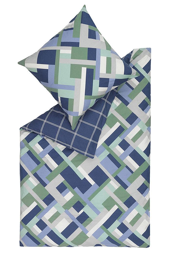 Bettwäsche aus Flanell, 100% Baumwolle, BLUE-GREEN, detail image number 0
