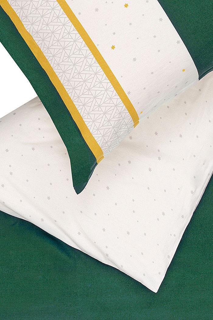 Bettwäsche aus Flanell, 100% Baumwolle, GREEN, detail image number 1