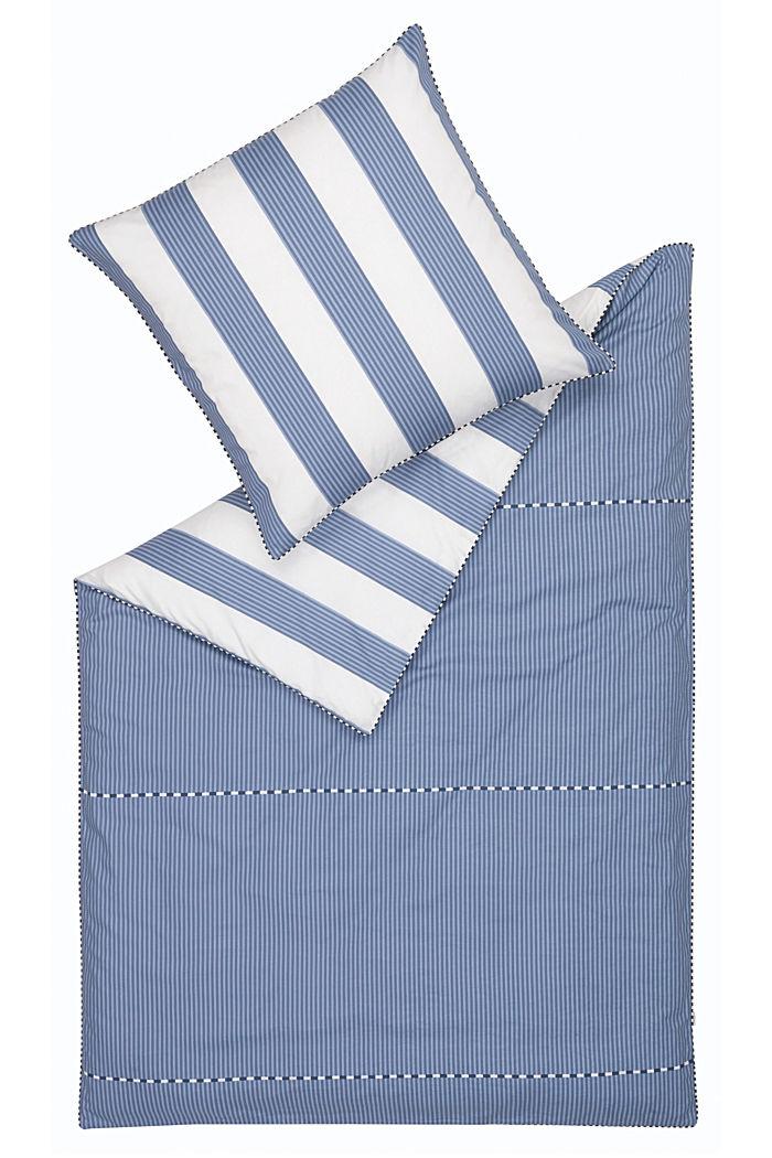 Satin-Bettwäsche, 100% Baumwolle, BLUE, detail image number 2
