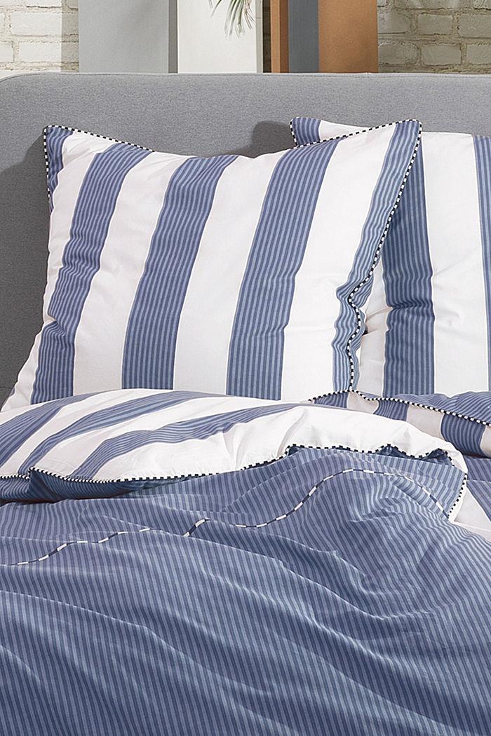 Satin-Bettwäsche, 100% Baumwolle, BLUE, detail image number 1