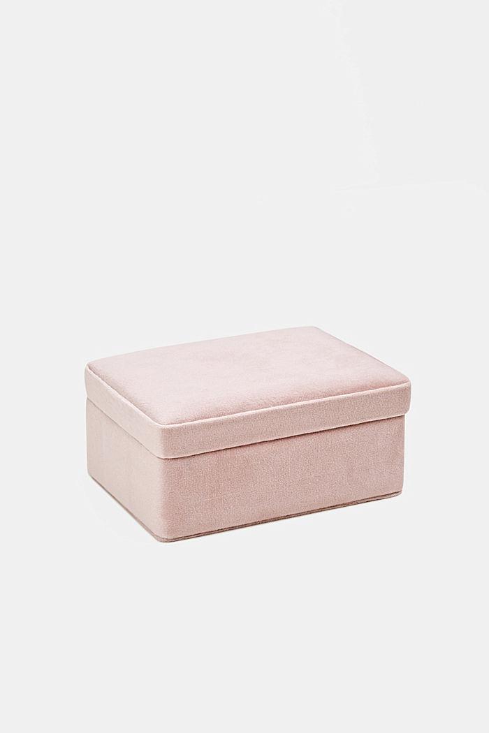 Velvet box with a lid, ROSE, detail image number 0