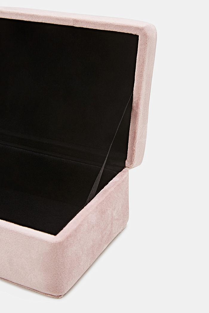 Velvet box with a lid, ROSE, detail image number 3