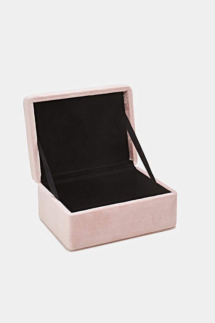 Velvet box with a lid, ROSE, detail image number 2