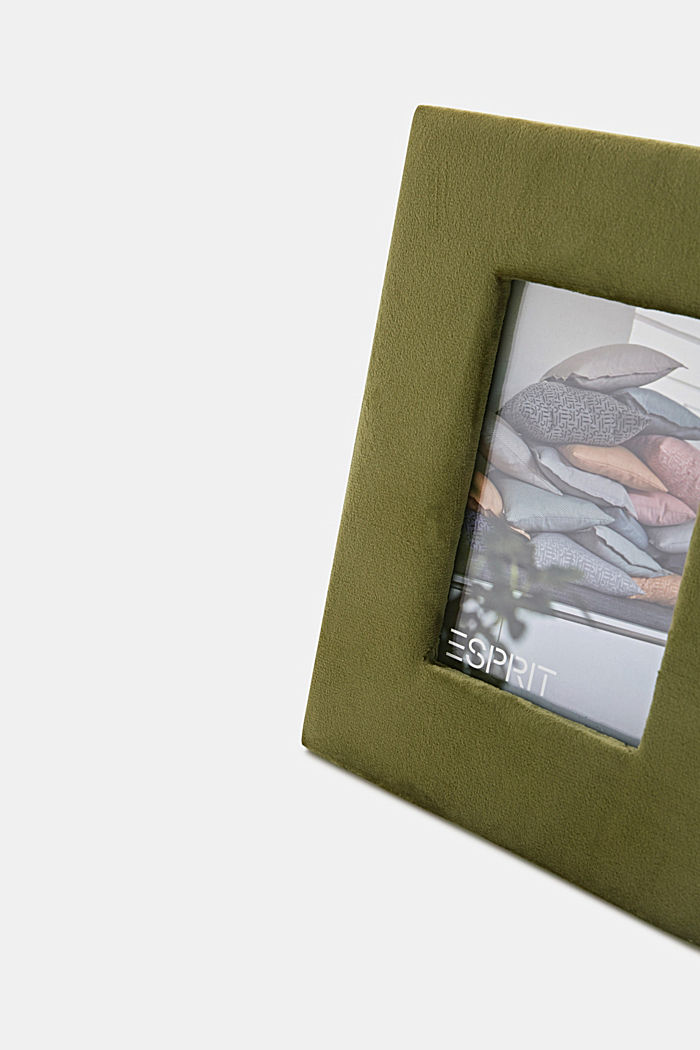 Picture frame made of micro velvet, KHAKI, detail image number 1