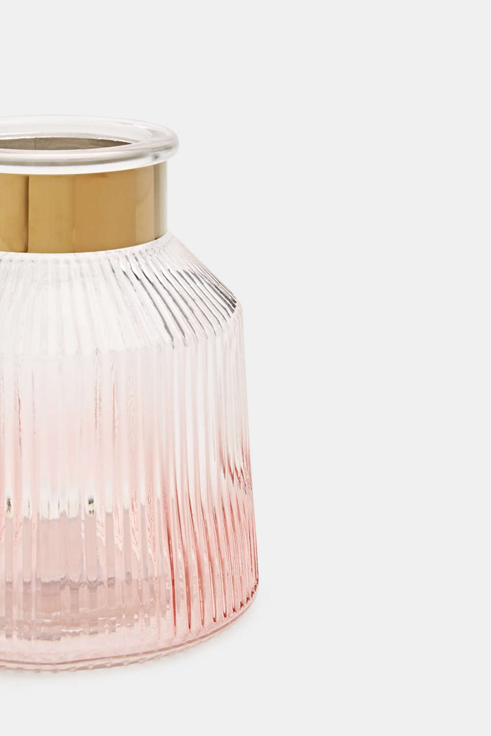 Textured glass vase, ROSE, detail image number 1