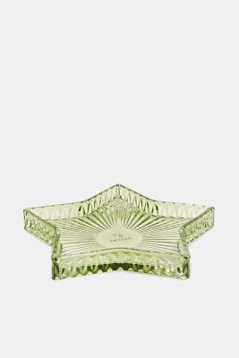 Decorative glass plate, GREEN, detail