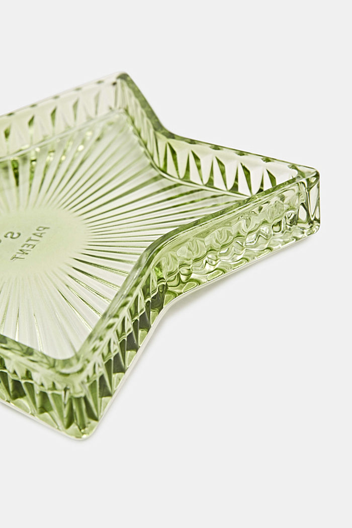 Decorative glass plate, GREEN, detail image number 1