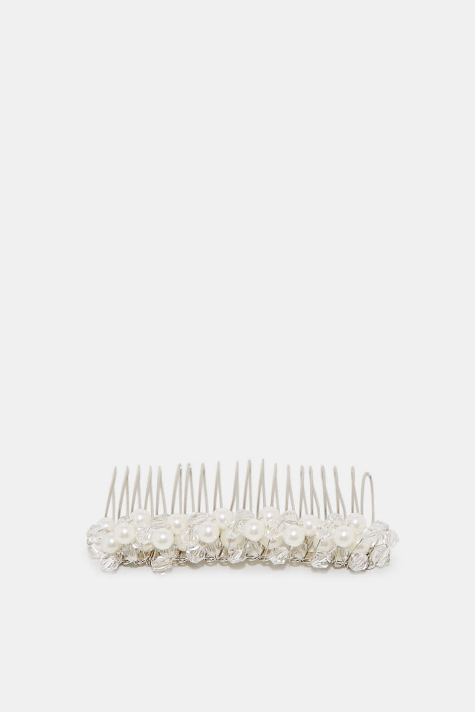Esprit - Hair comb with beads + facet-cut stones