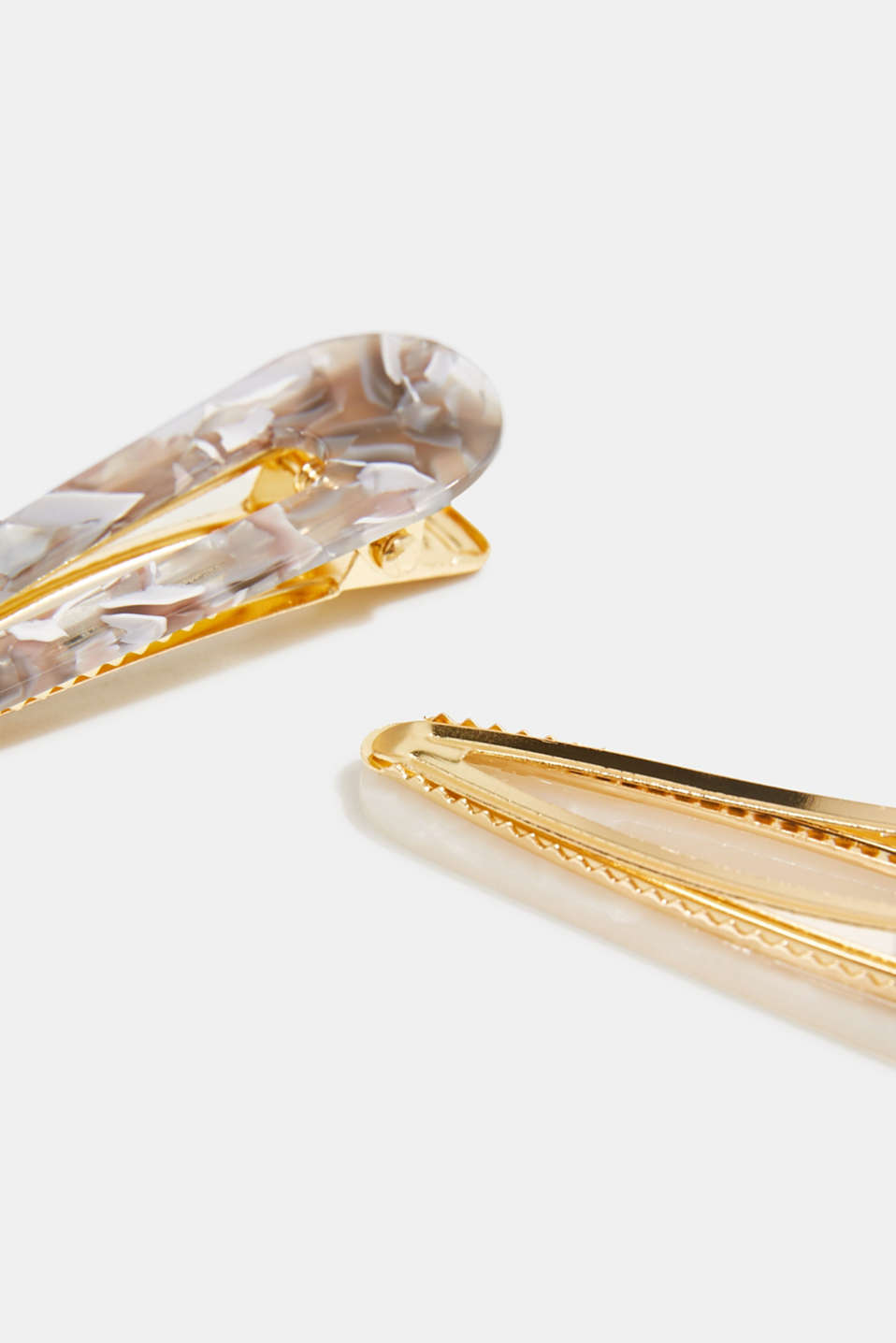 Set of two: hair clips in a mother-of-pearl look, 1COLOR, detail image number 1