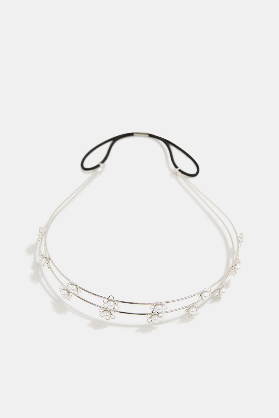 Esprit - Hairband with floral artificial pearl embellishment