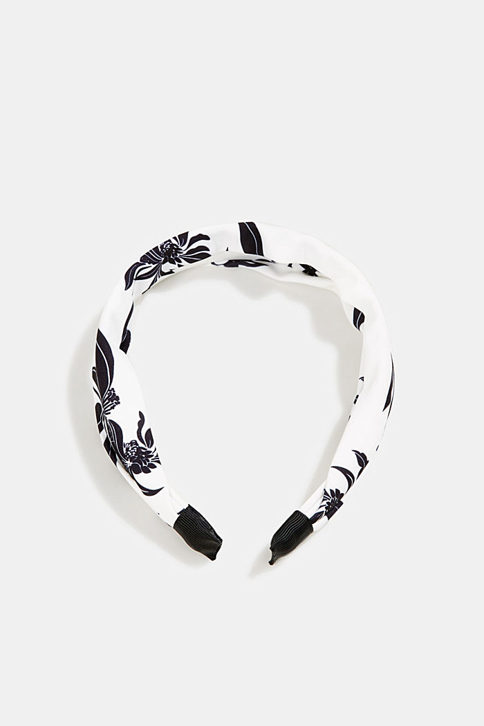 Hairband with floral print, WHITE, detail image number 0