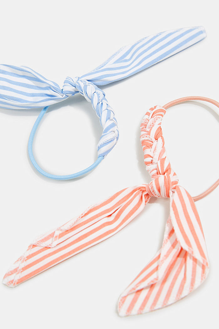 Set of two: hair bands with a bow, BLUE/RED, detail image number 1