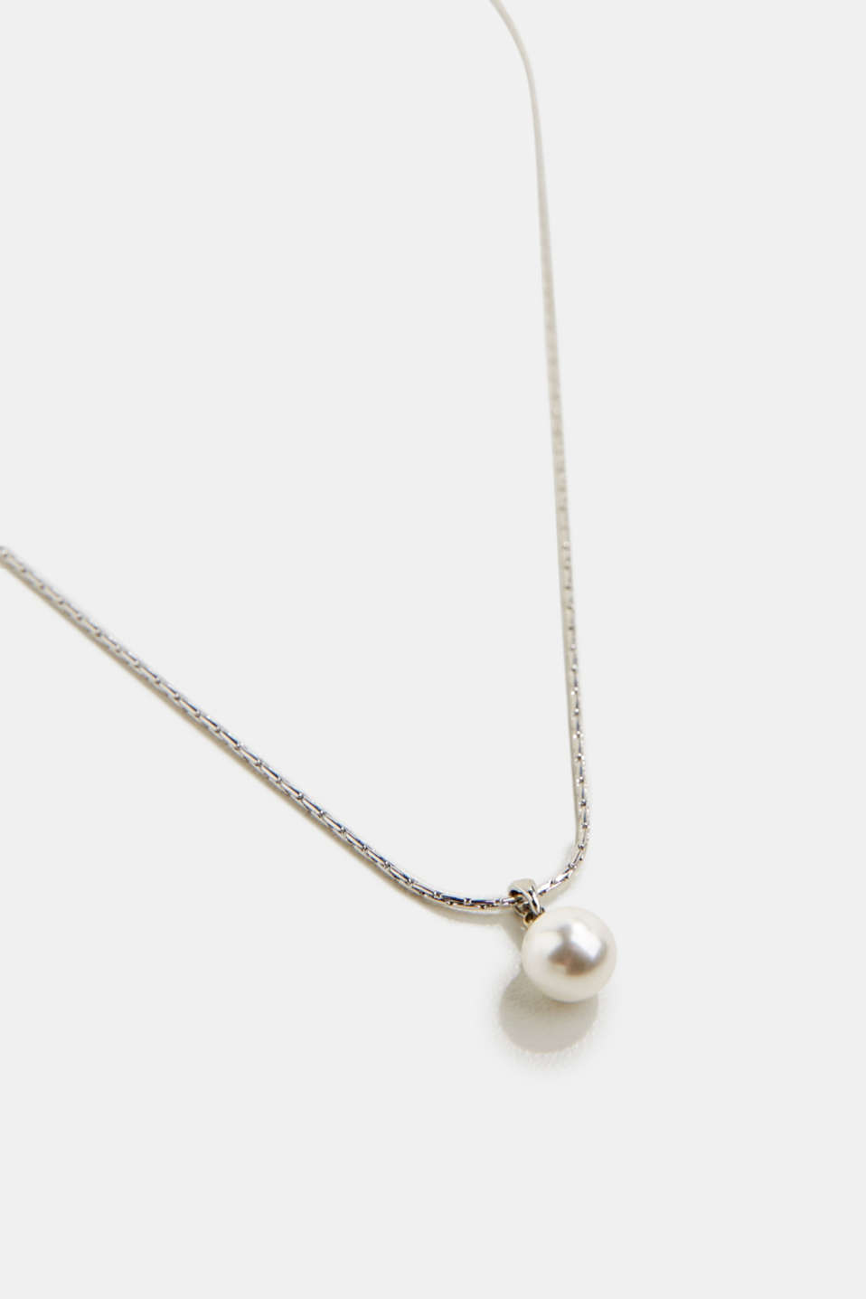 Necklace with a faux pearl, 1COLOR, detail image number 1