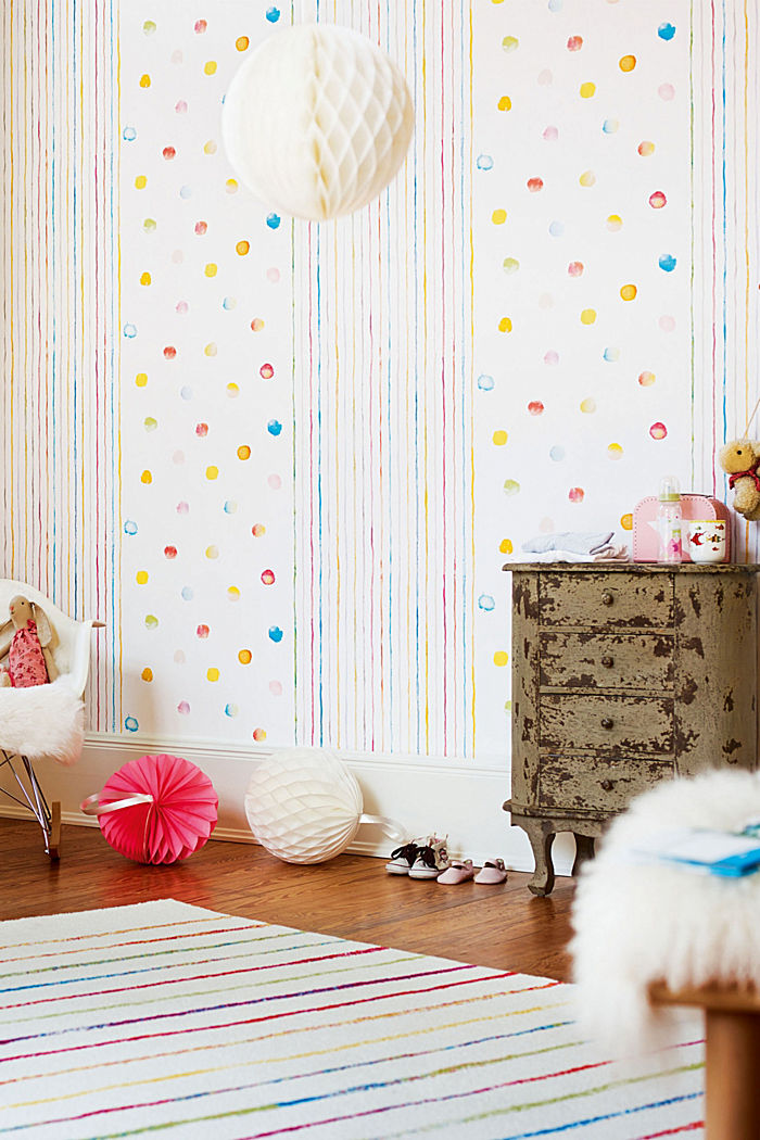 Dots pattern wallpaper, ONE COLOUR, detail image number 2