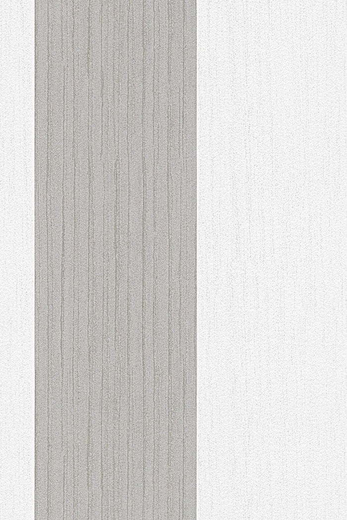 Non-woven wallpaper with block stripes, ONE COLOUR, detail image number 1