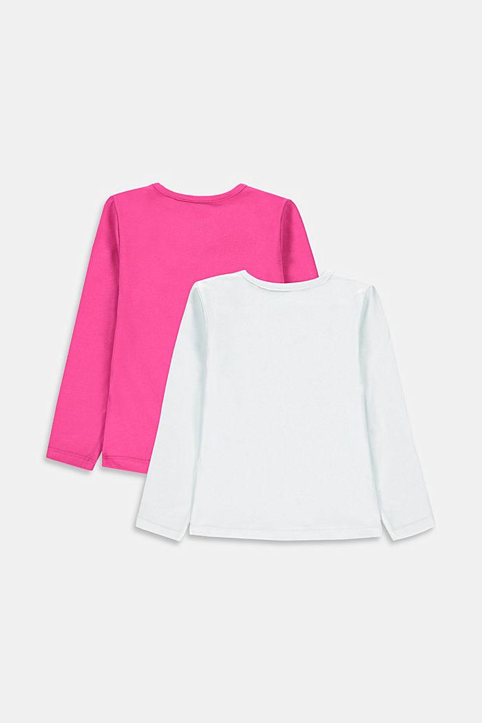 Tričko s dlouhým rukávem z bavlněného streče, balení po 2 kusech