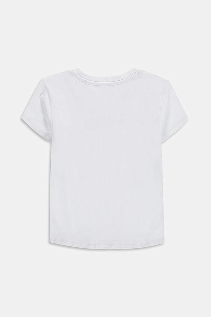Logo T-shirt, 100% cotton, WHITE, detail image number 1
