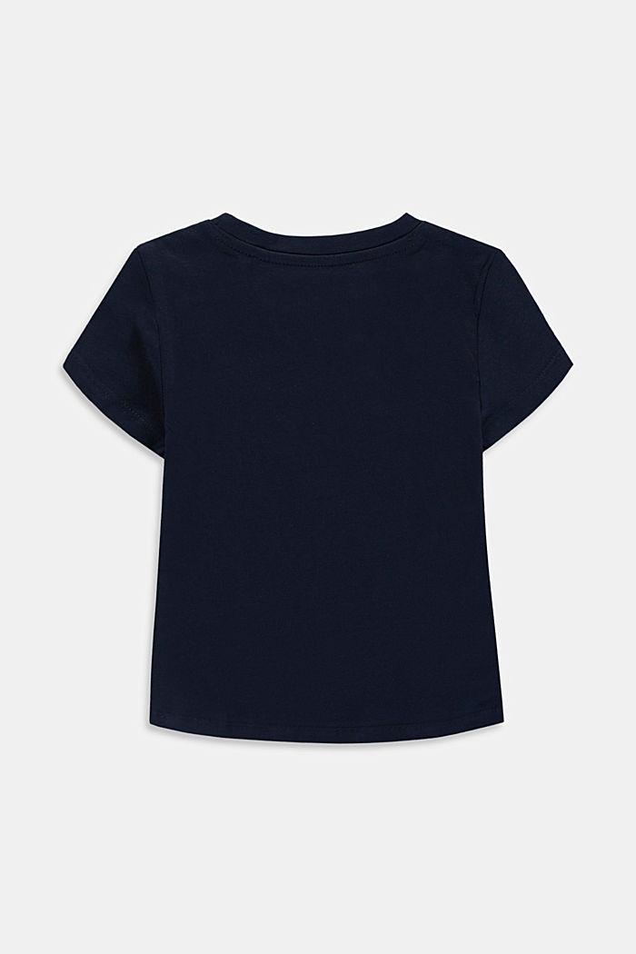 T-Shirt mit Logo aus Baumwolle, NAVY, detail image number 1