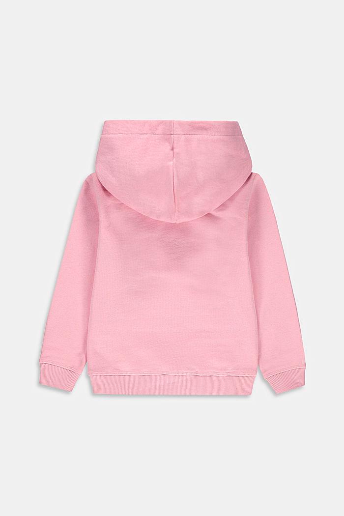 Felpa con cappuccio e logo in 100% cotone, LIGHT PINK, detail image number 1