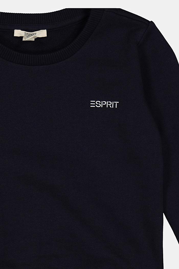 Logo sweatshirt in 100% cotton, NAVY, detail image number 2