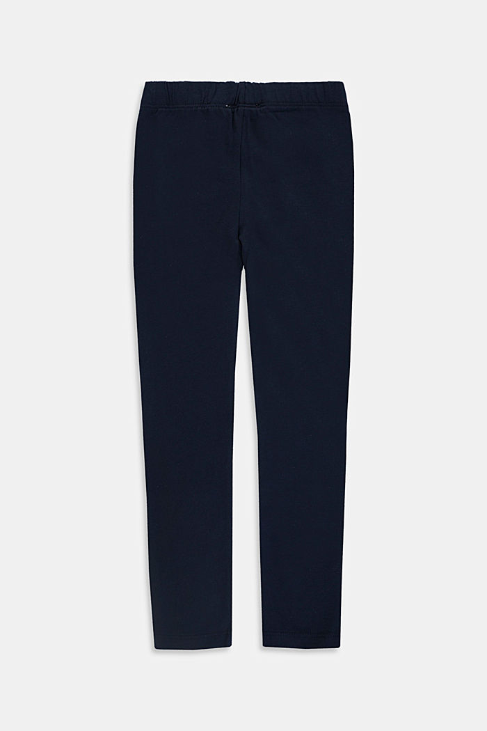 Basic stretch cotton leggings, NAVY, detail image number 1