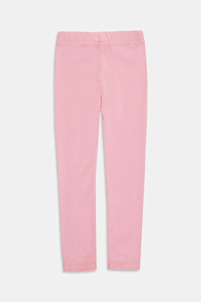 Basic stretch cotton leggings, LIGHT PINK, detail image number 1